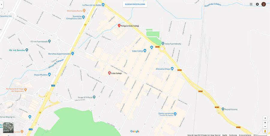 Mapa polígono Cobo Calleja
