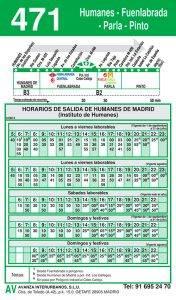 Línea 471 HUMANES-FUENLABRADA-PARLA-PINTO