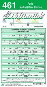 Línea 461 MADRID (Plaza Elíptica) – PARLA